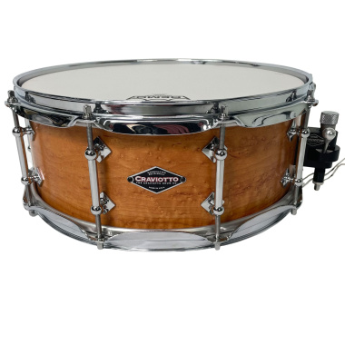 Craviotto Solid Shell Birdseye Maple 14×5.5in Snare Drum – Pre-owned