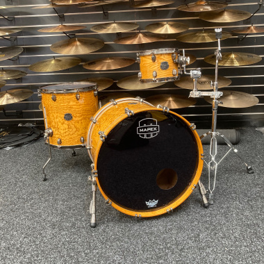 Mapex Saturn IV 22in 3pc Shell Pack, Natural Ash Burl