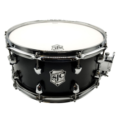 SJC Tour Series 14x7in Snare Drum – Black Satin Stain With Chrome Hardware
