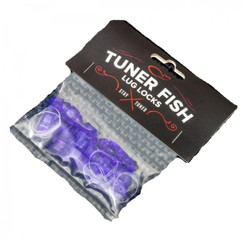 Tuner Fish Lug Locks Purple 8 Pack