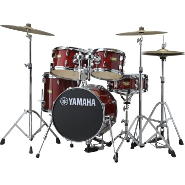 Yamaha Manu Katche Junior 5pc Kit With Hardware – Cranberry Red