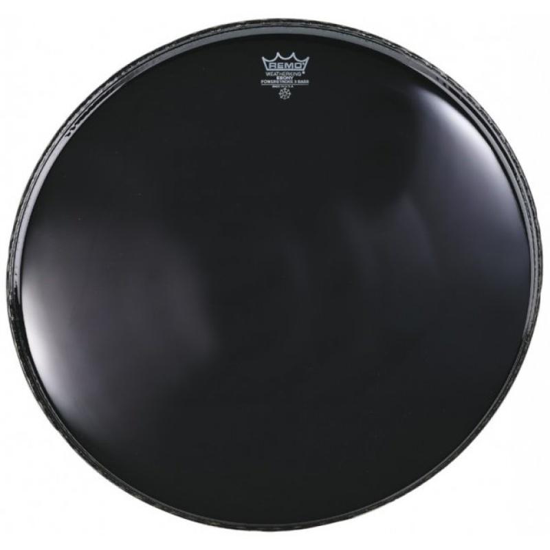 Remo Powerstroke 3 Ebony 24in Bass Drum Head