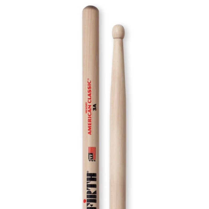 Vic Firth 3A – Hickory Wood Tip