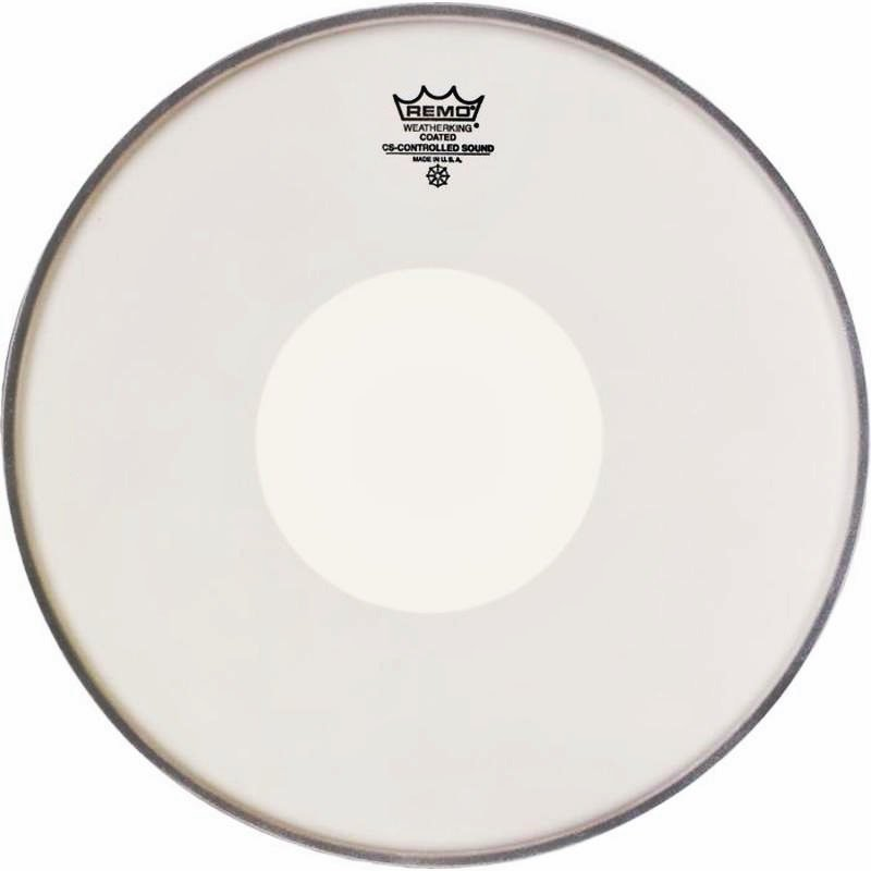 Remo Controlled Sound Coated 13in Drum Head with White Dot