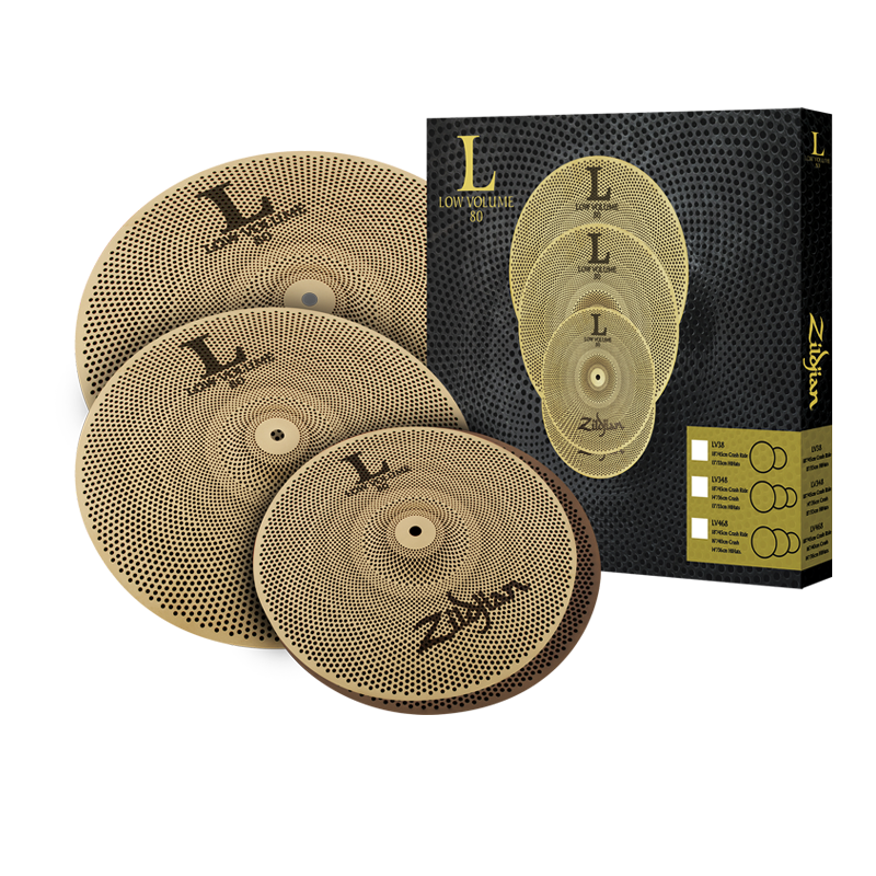 zildjian l80 low volume 468 cymbal set drummers only. Black Bedroom Furniture Sets. Home Design Ideas