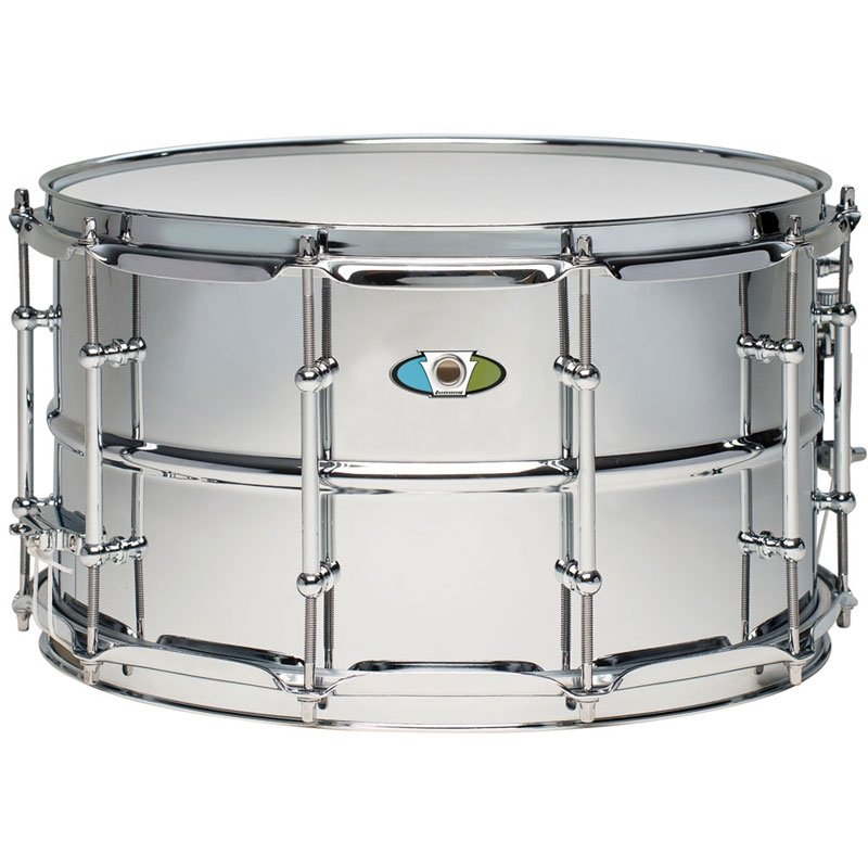 Ludwig Supralite 14x8in Steel Snare, With P88i Throw Off