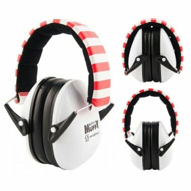 Alpine Earmuffs For Kids – White/Red
