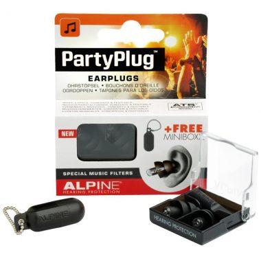 Alpine PartyPlug Earplugs – Black