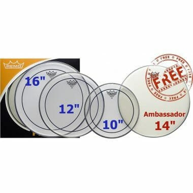 Remo Pinstripe Clear Rock Fusion Pack – PP-1870-PS