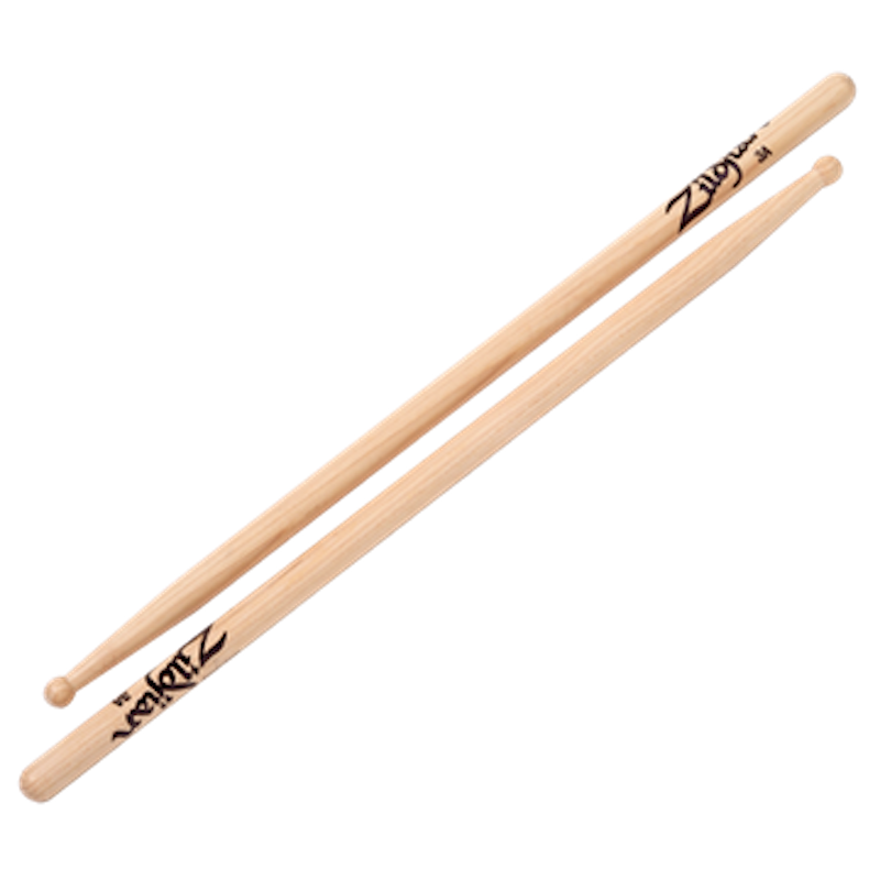 Zildjian Hickory 3A Sticks – Wood Tip