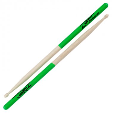 Zildjian Maple 5B Green Dip Sticks – Wood Tip