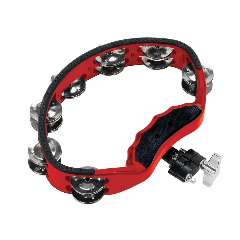 Gon Bops Tambourine with Mount – Red