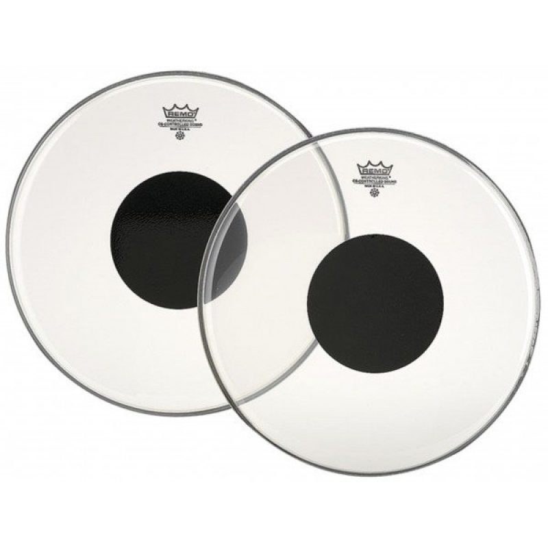 Remo Controlled Sound Clear 14in w/Black Dot