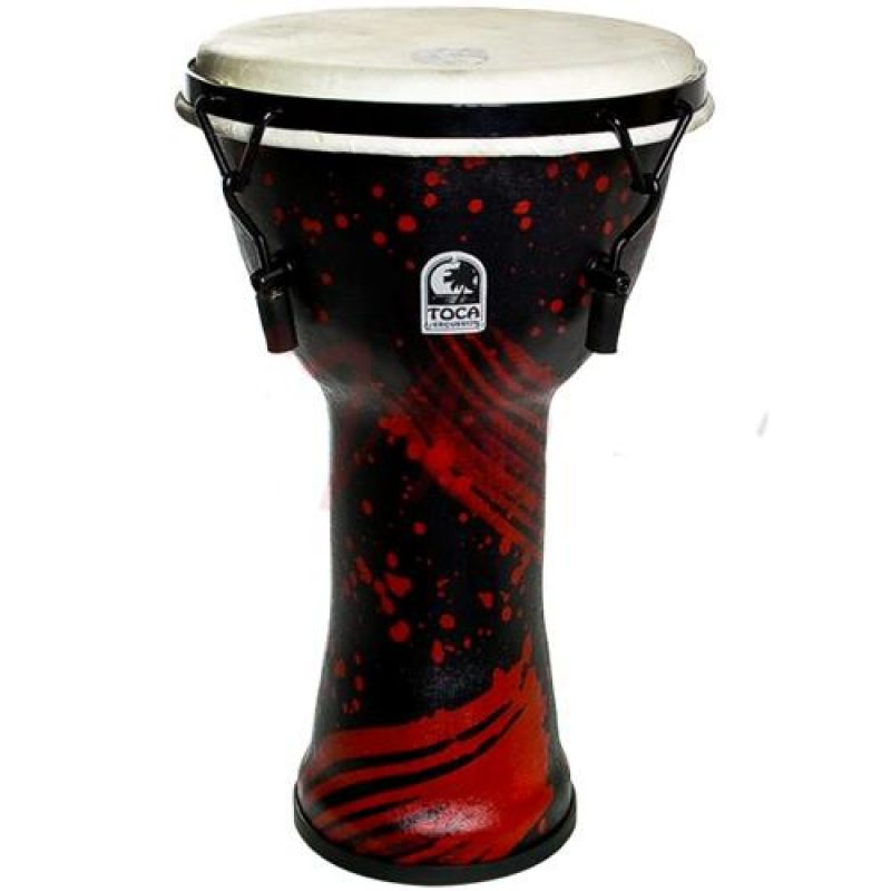 Toca 10in Freestyle Djembe – Abstract Red