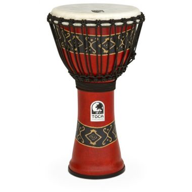 Toca Synergy Freestyle 10in Djembe, Rope Tuned, Bali Red