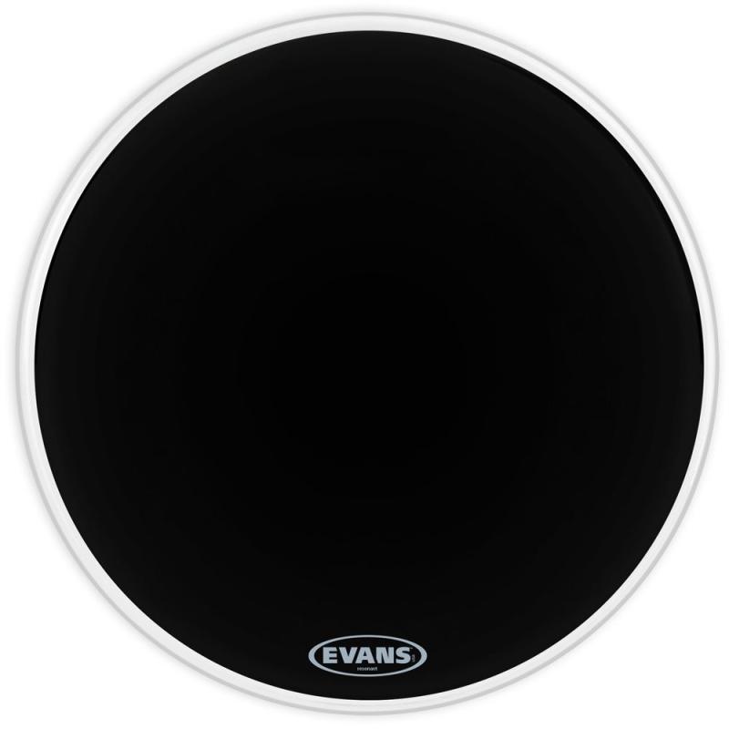 Evans Black 18in Resonant Bass Drum Head – 1ply