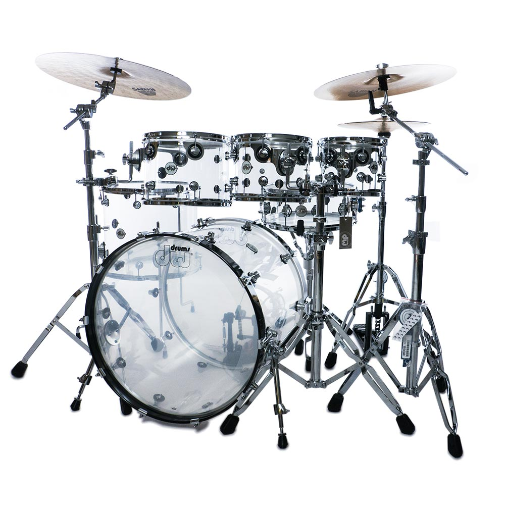 dw design series acrylic 6pc shell pack drummers only. Black Bedroom Furniture Sets. Home Design Ideas