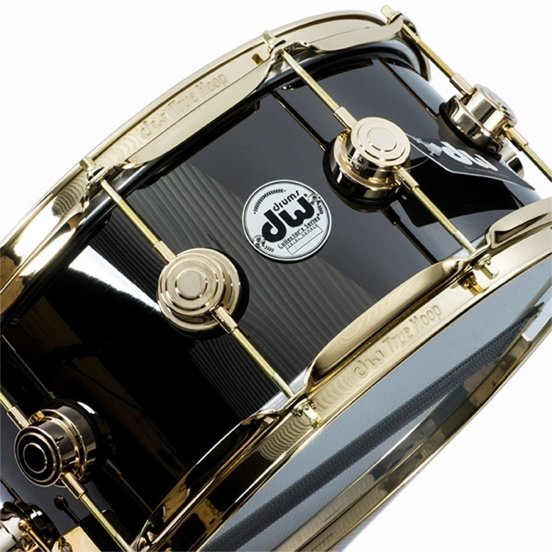 DW Collector's 14×6.5in Black Brass with Gold Hardware