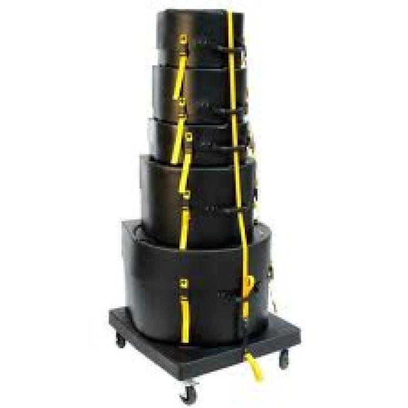 Hardcase Wheeled Drum Case Trolley