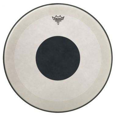 Remo Powerstroke 3 Coated 20in Bass Drum Head – Black Dot