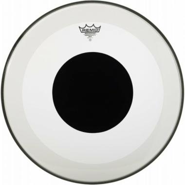 Remo Powerstroke 3 Clear 20in Bass Drum Head – Black Dot