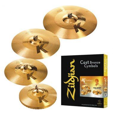 Zildjian K Custom Hybrid Cymbal set with FREE 18in K Custom Hybrid Crash