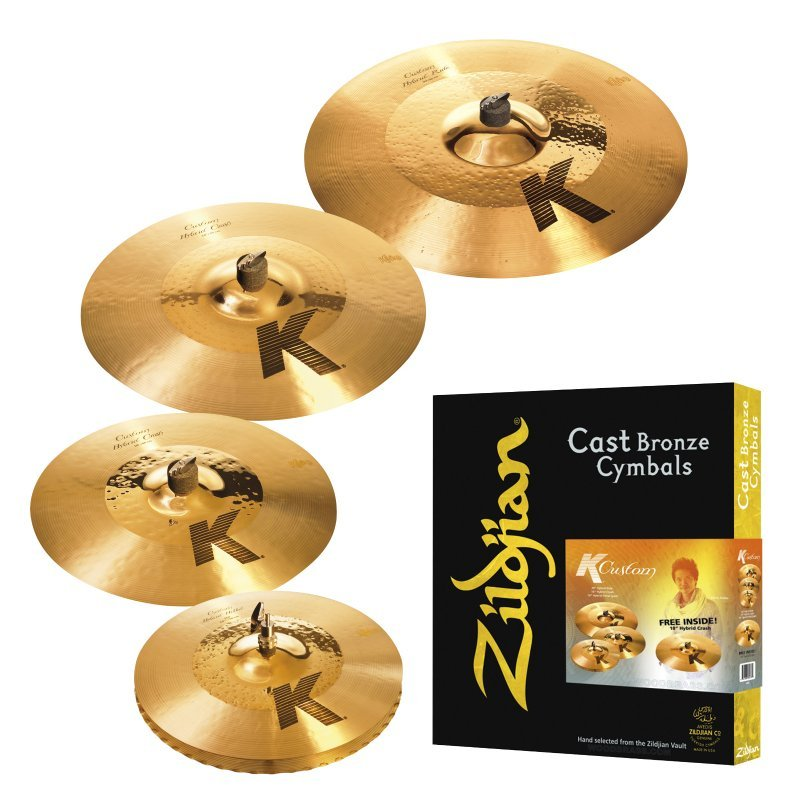 zildjian k custom hybrid cymbal set with free 18in k custom hybrid crash drummers only. Black Bedroom Furniture Sets. Home Design Ideas