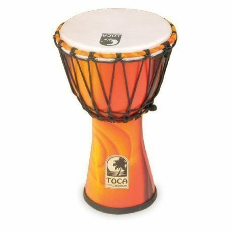 Toca 7in Synergy Freestyle Djembe, Rope Tuned, Fiesta