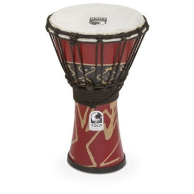 Toca 7in Synergy Freestyle Djembe, Rope Tuned, Bali Red