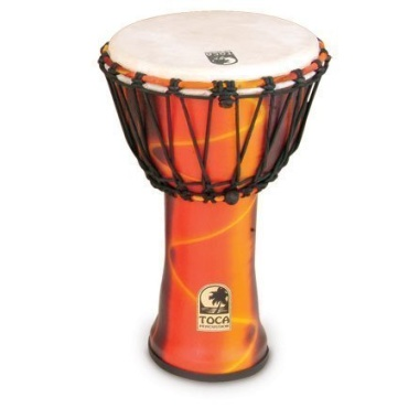 Toca 9in Synergy Freestyle Djembe, Rope Tuned, Fiesta