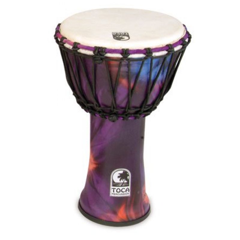 Toca 10in Synergy Freestyle Djembe, Rope Tuned, Woodstock Purple
