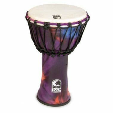 Toca 9in Synergy Freestyle Djembe, Rope Tuned, Woodstock Purple