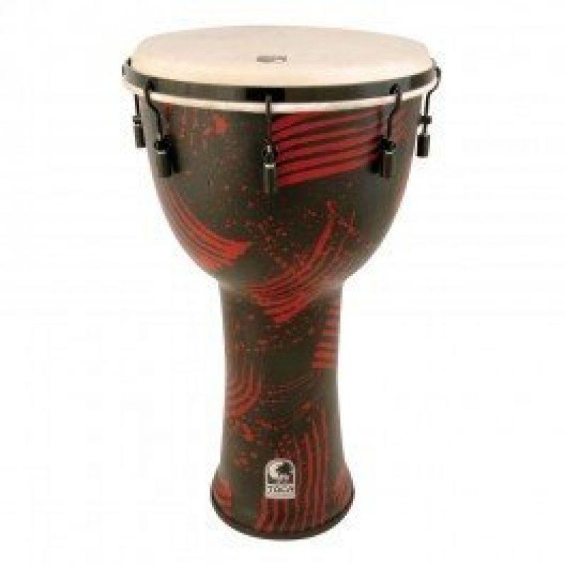 Toca 9in Freestyle Djembe, Mech. Tuned, Abstract Red