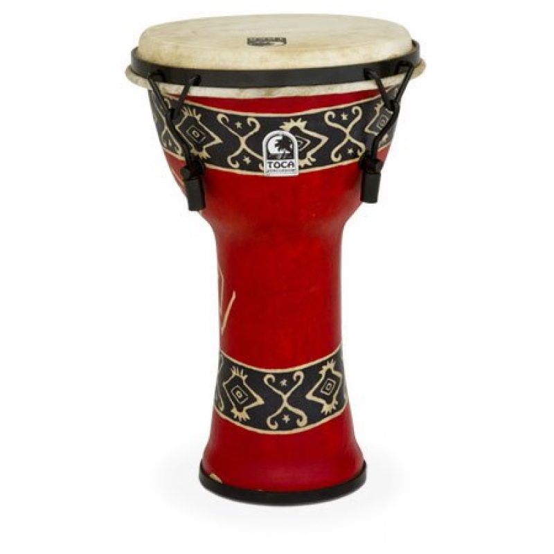 Toca 9in Freestyle Djembe, Mech. Tuned, Bali Red