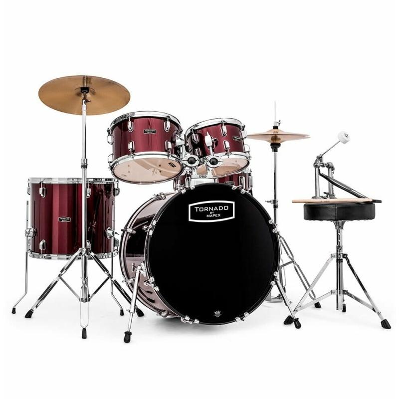 Mapex Tornado 22 Rock Fusion Drum Kit – Burgundy Red