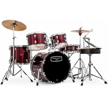 Mapex Tornado 18in Compact Drum Kit – Burgundy Red