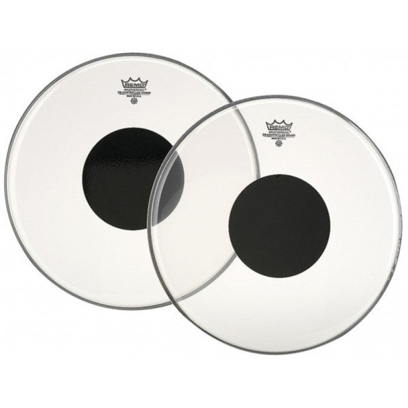 Remo Controlled Sound Clear 18in w/Black Dot