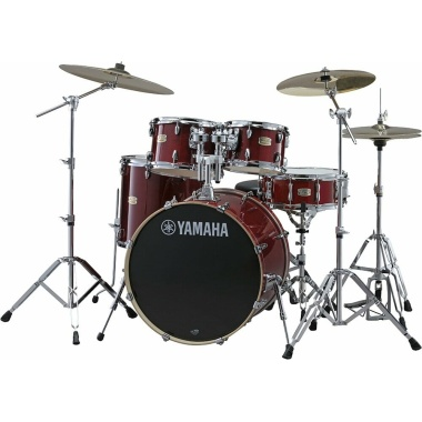 Yamaha Stage Custom Birch 5pc 22in American Fusion Shell Pack – Cranberry Red